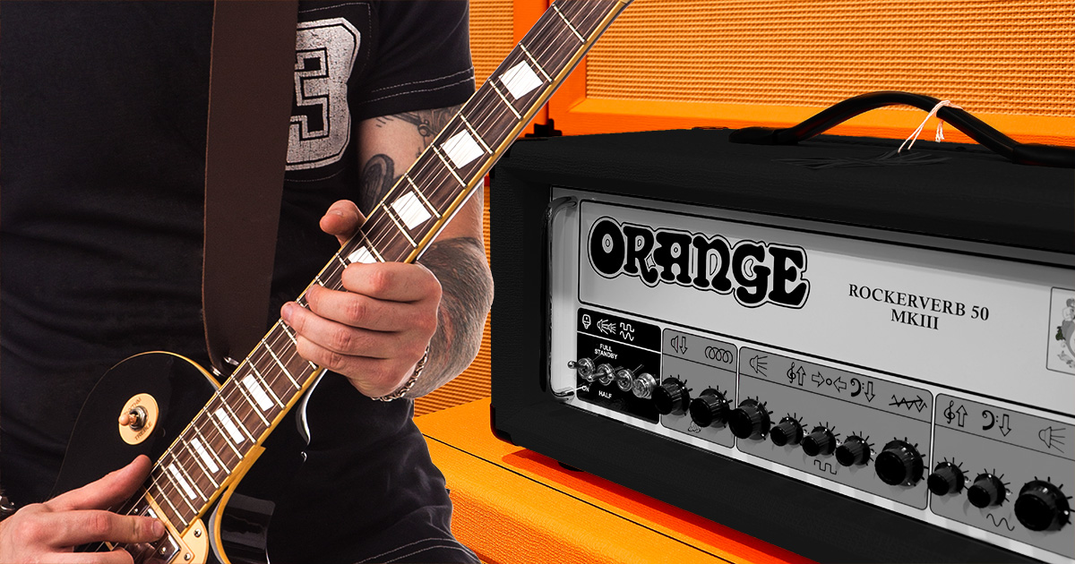 shy, black, orange amp