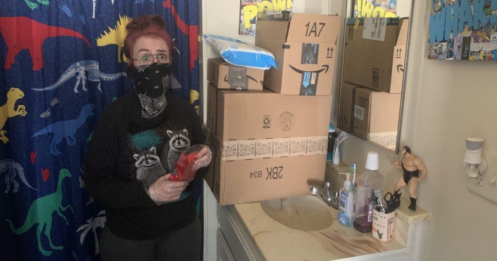 hair dye, gloves, quarantine