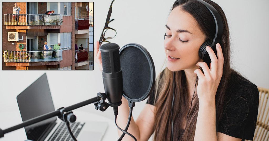 vocals, recording, interrupt, annoying, applause