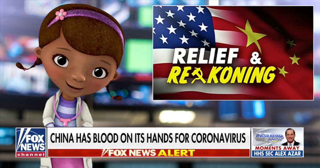 doc mcstuffins, cnn, fox news, covid-19