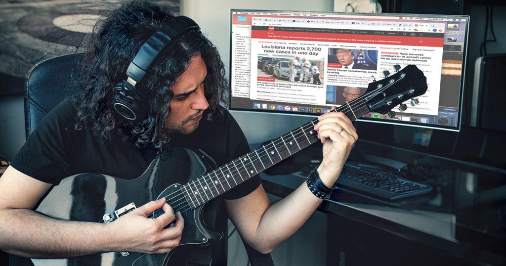 essential workers, non-essential, guitar, guitarist