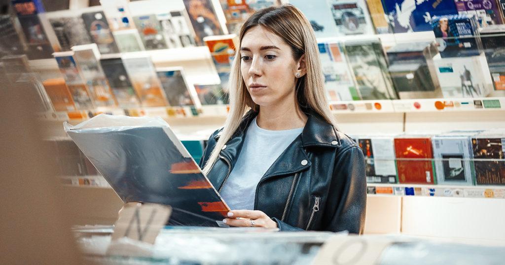 records, record store, dollar bin, cheap