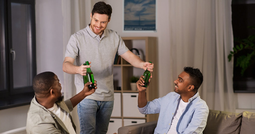 quarantined, roommates, drinking