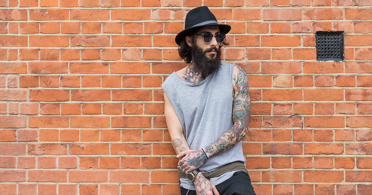 man, hat, beard