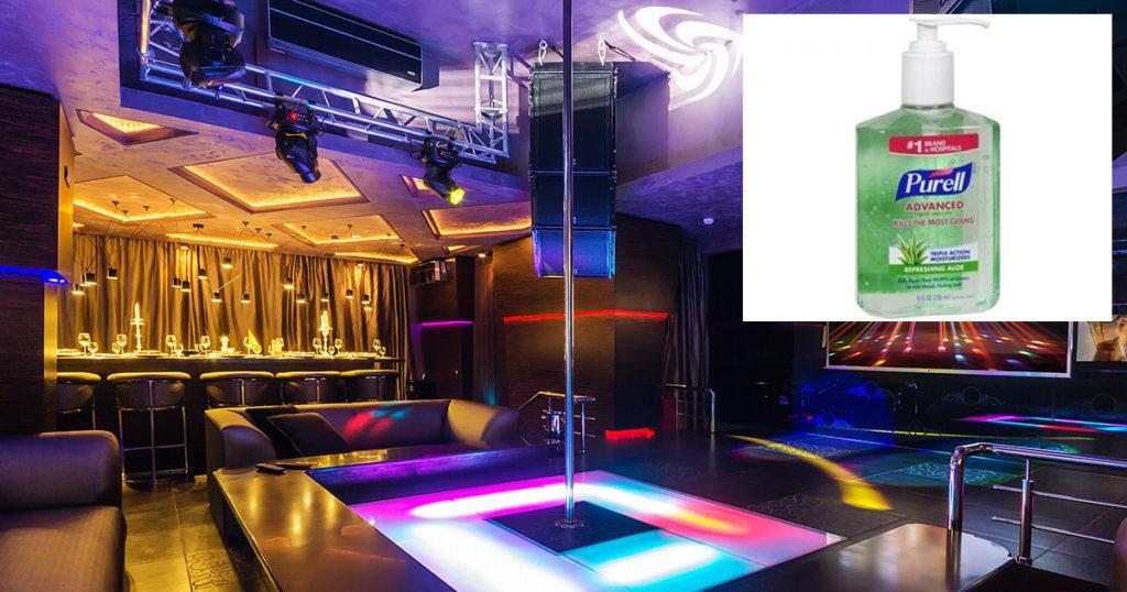 strip club, essential, purell