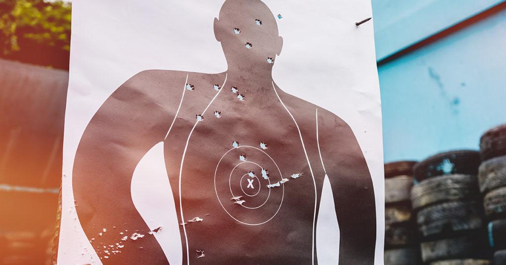 cops, target, shooting