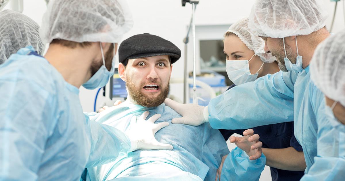 hat, cut off, surgery, skally, weird