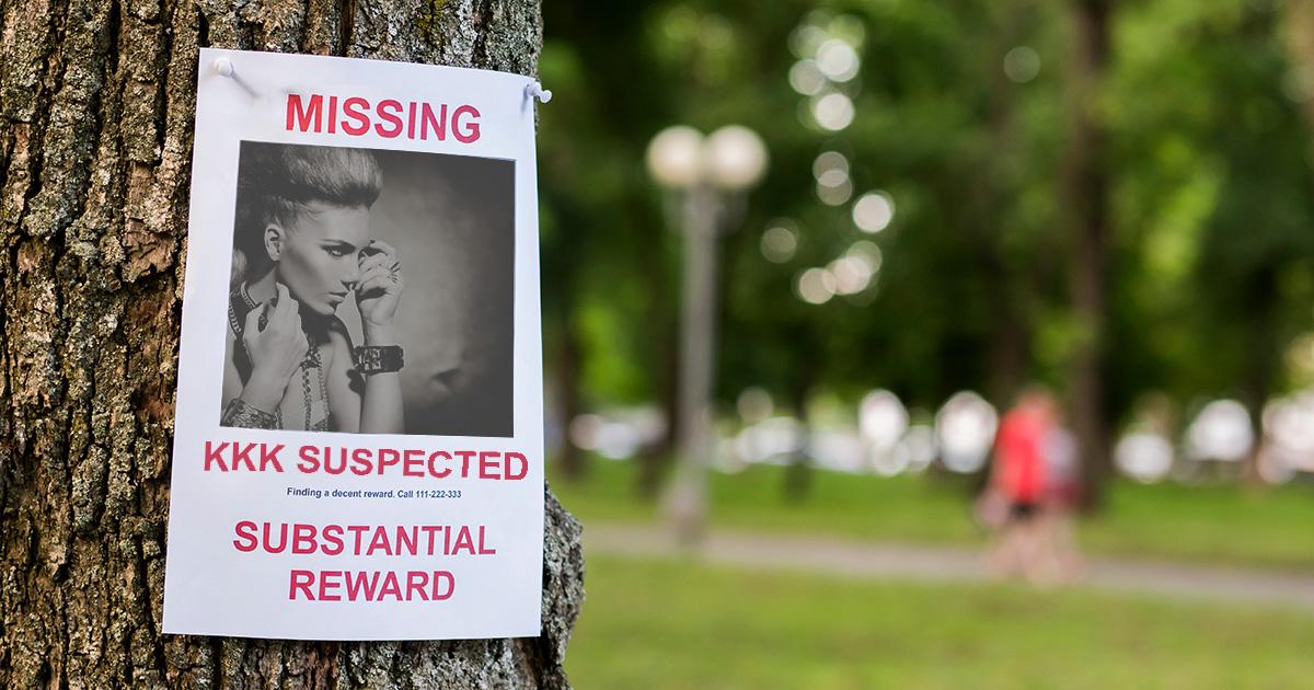 KKK, ramones, missing person, taken, police, case