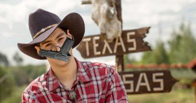 texas, mask, gun, functioning, covid-19, shoot