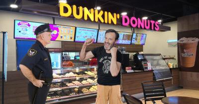 cop, police officer, dunkin donuts, bootlicker
