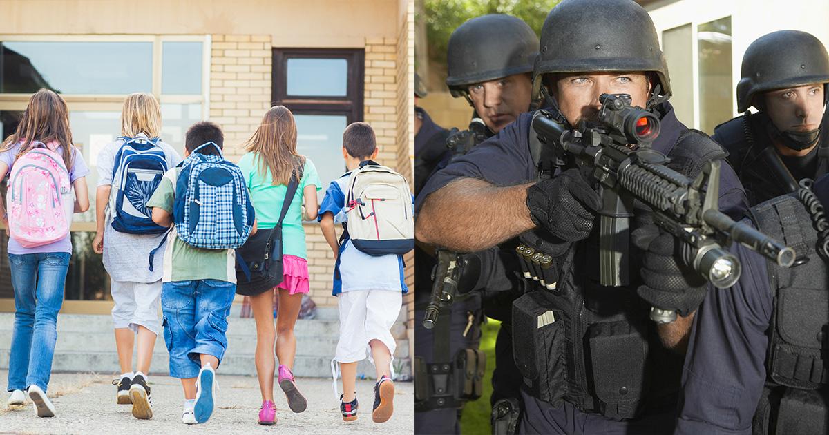 school, white, men, kids, police, officer, law
