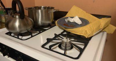 chili, composting toilet, dishes