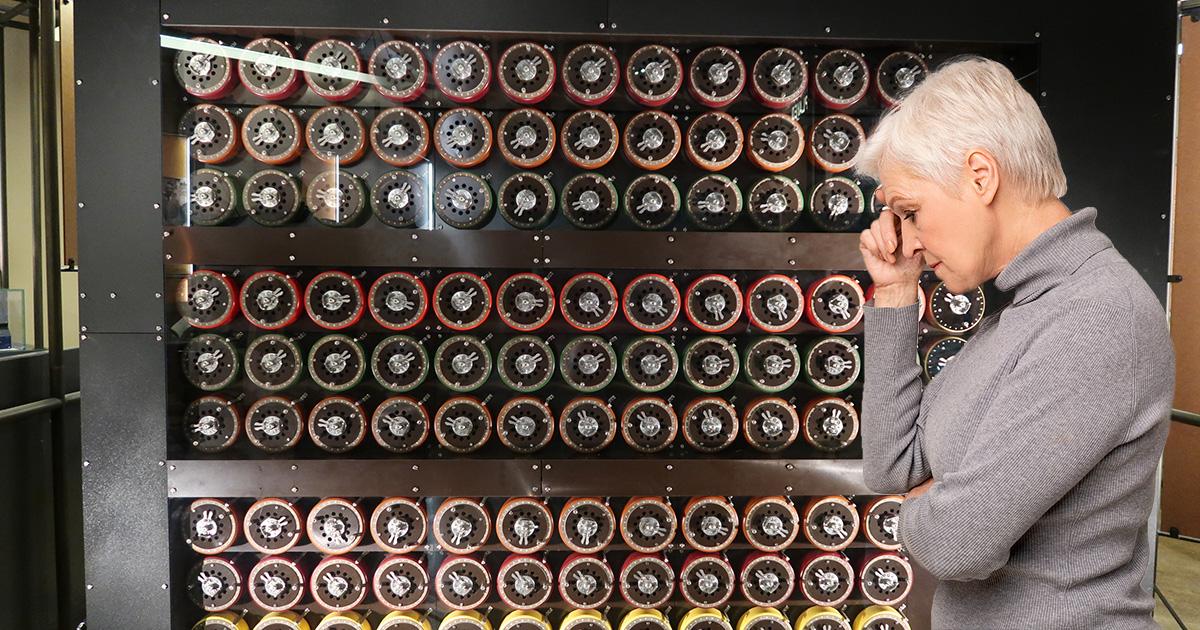 codes, code breaker, woman, old, white hair, boomer, ww2, war, pavement, pressure, circles, code break
