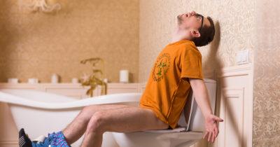 gross, water, toilet, poop, orange shirt, tub, bathroom, piss, pee