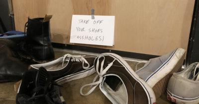 punk house, shoes, off