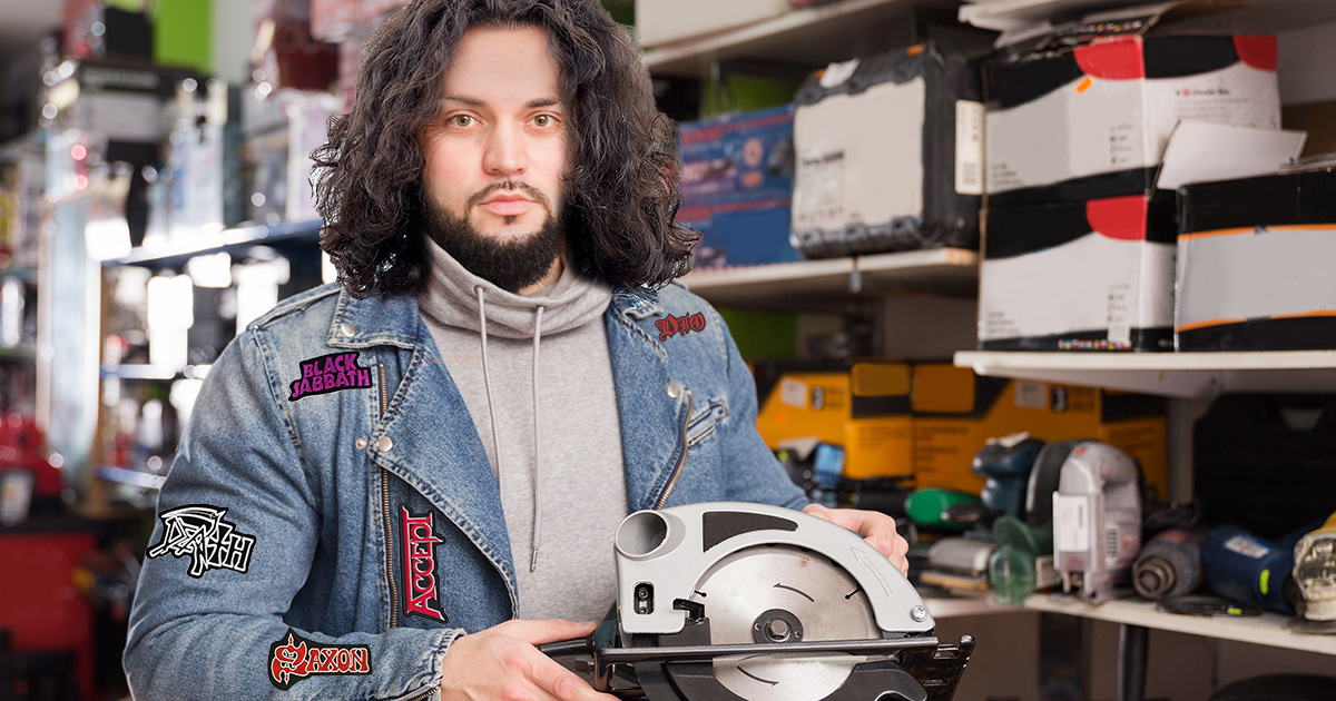 Guitarist in Black Sabbath Cover Band Tearfully Purchases Circular Saw