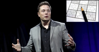 sudoku, elon musk, excited, white, handsome, forehead, big, weird, creepy, smart, genius, puzzle