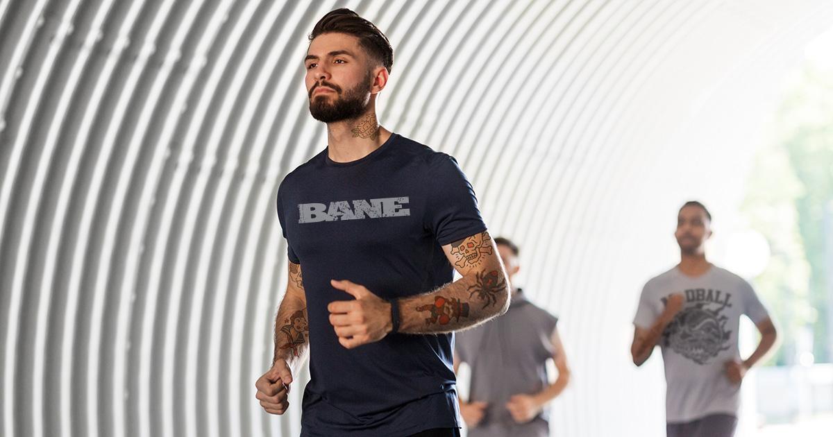 running, shirt, tunnel, man, bane shirt, cool, hardcore, fit, in shape, cool, annoying, lame, jog, breathe, exhausted, weak