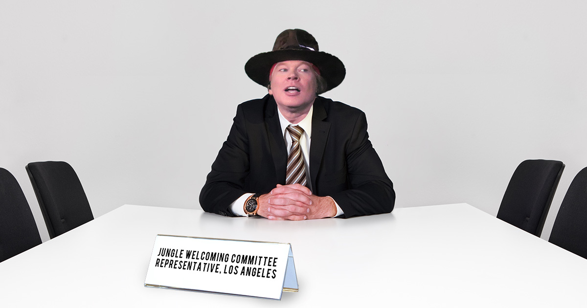 axl rose, welcome to the jungle, committee