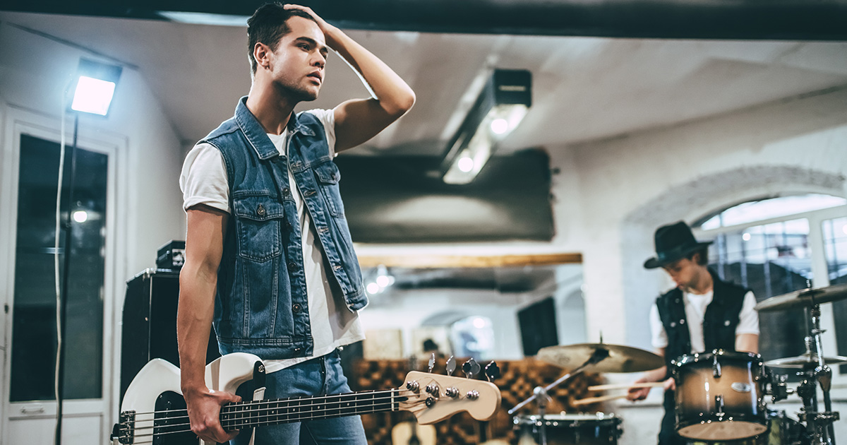 Punk Bassist Works Up Courage to Ask What Other Two Strings Are For