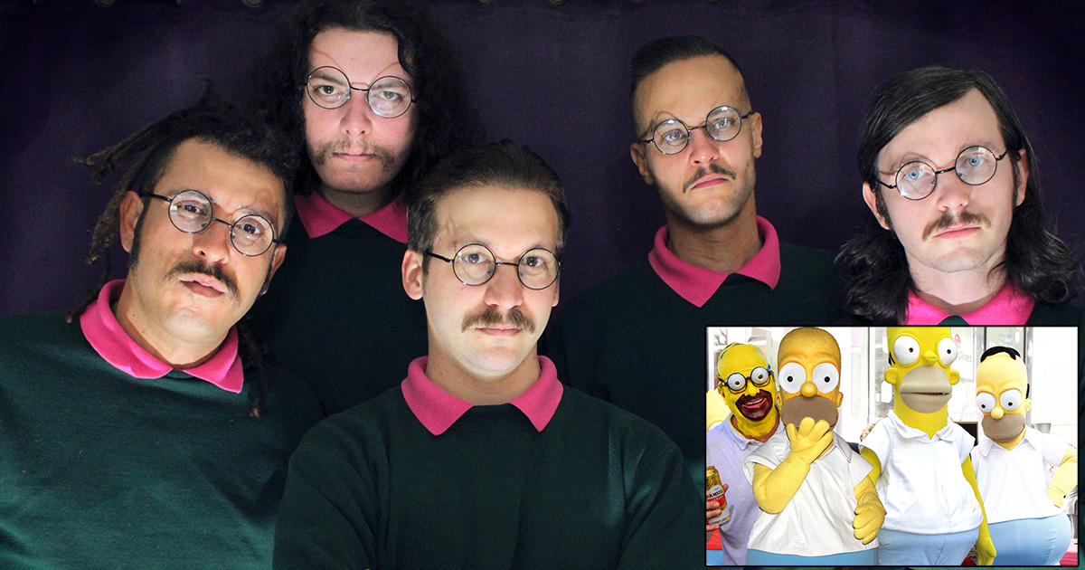 okilly dokilly, pink shirts, green sweaters, glasses, nerds, jesus, god, love, kindness, neighborino, caring, generosity, angry, metal, nedal, heavy, the simpsons, springfield