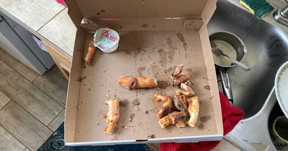 pizza, crust, morning
