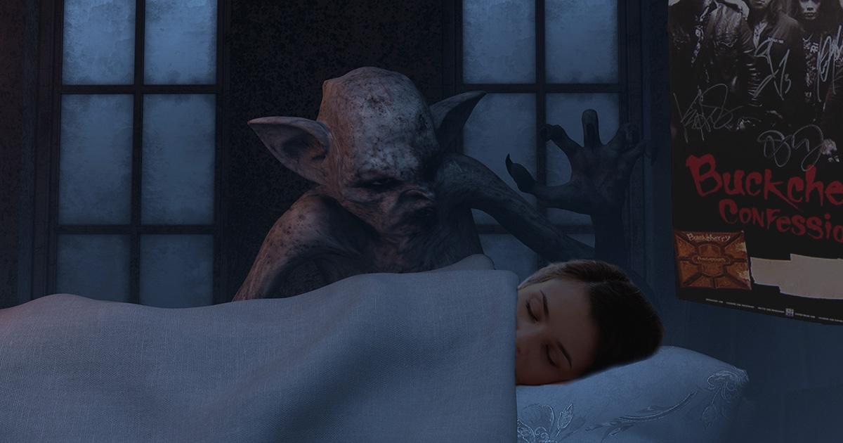 sleep paralysis, demon, buckcherry