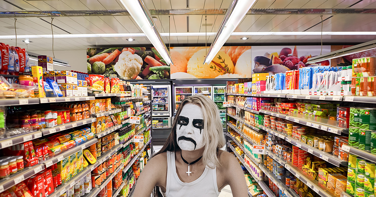 Metalhead in Corpse Paint Sick of Being Mistaken for Goth in Crow Makeup