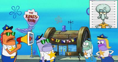 squidward, krusty krab, active shooter
