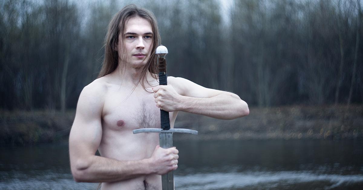 metalhead, sword, camping
