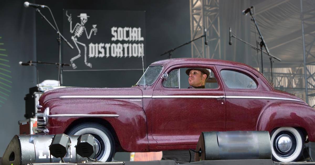 mike ness, social distortion, revving engine