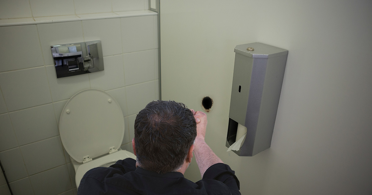 Man Asks Person on Other Side of Glory Hole If They're Vaccinated