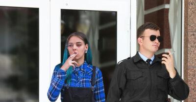 smoker, punk, security guard